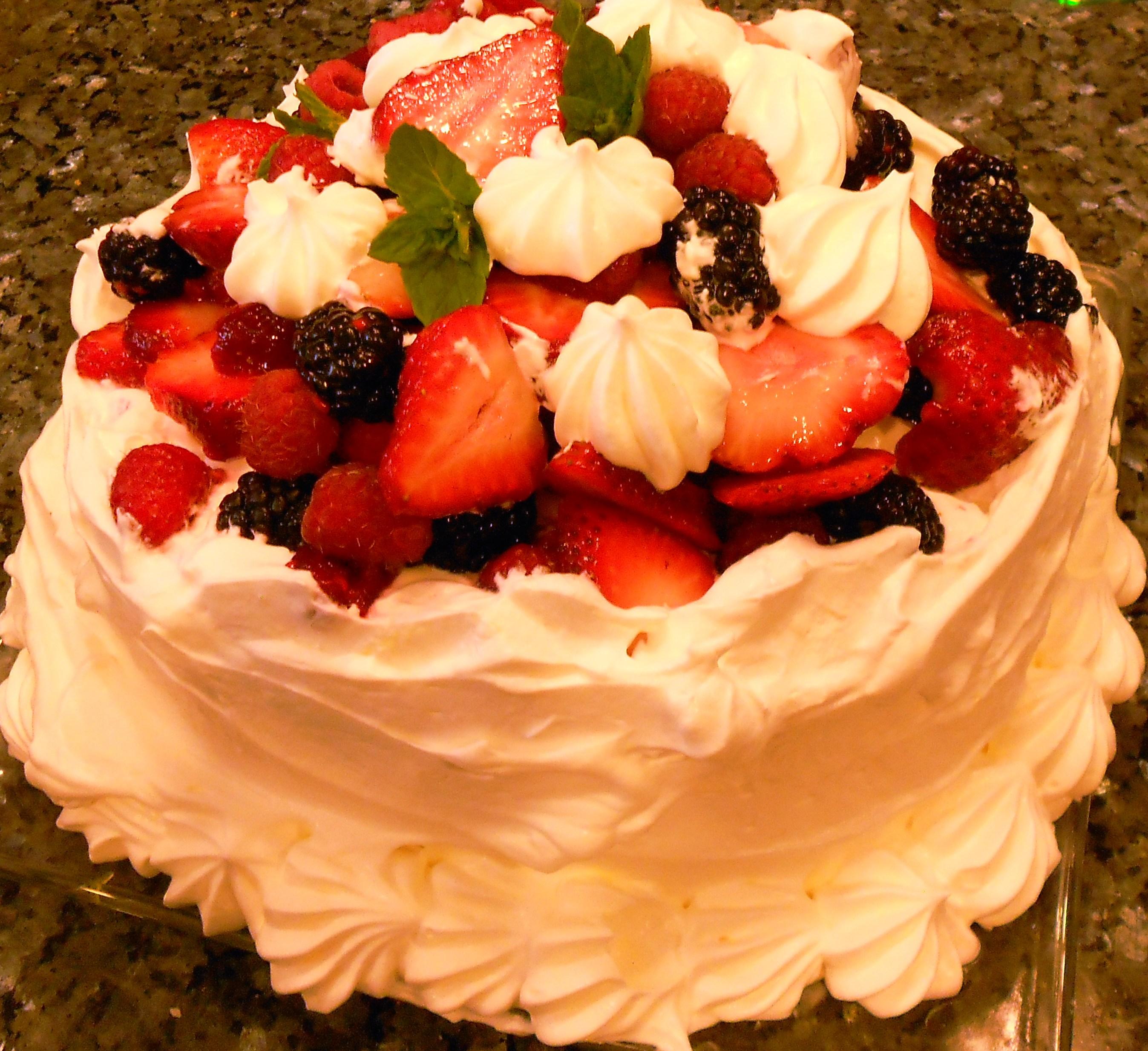 Megans Lemon Berry Birthday Cake Recipe Desserts