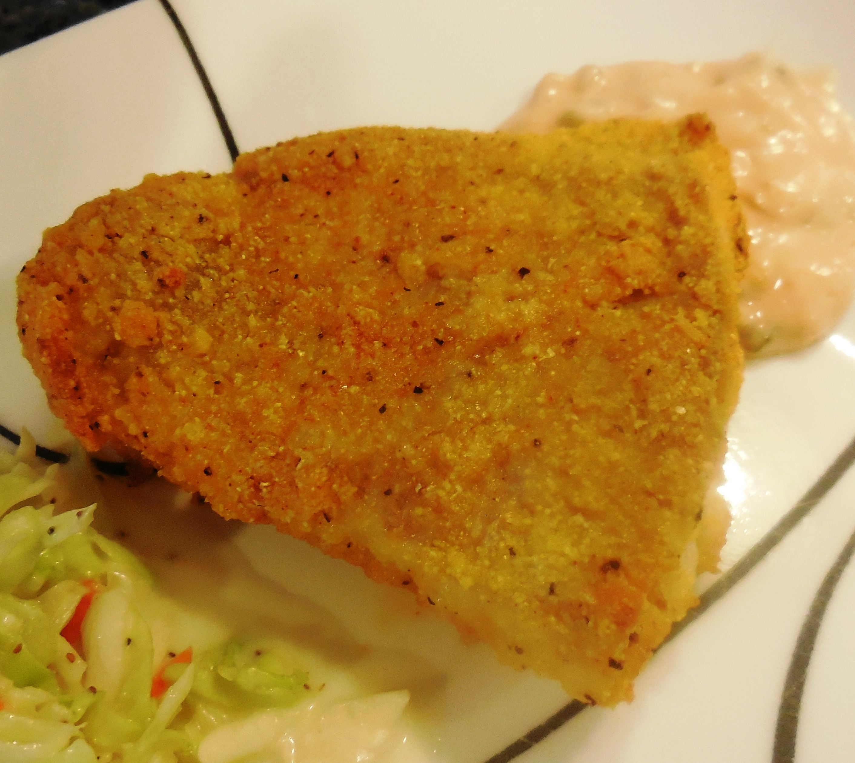 Oven Fried Catfish & Southern Slaw Recipe - Quick Cooking
