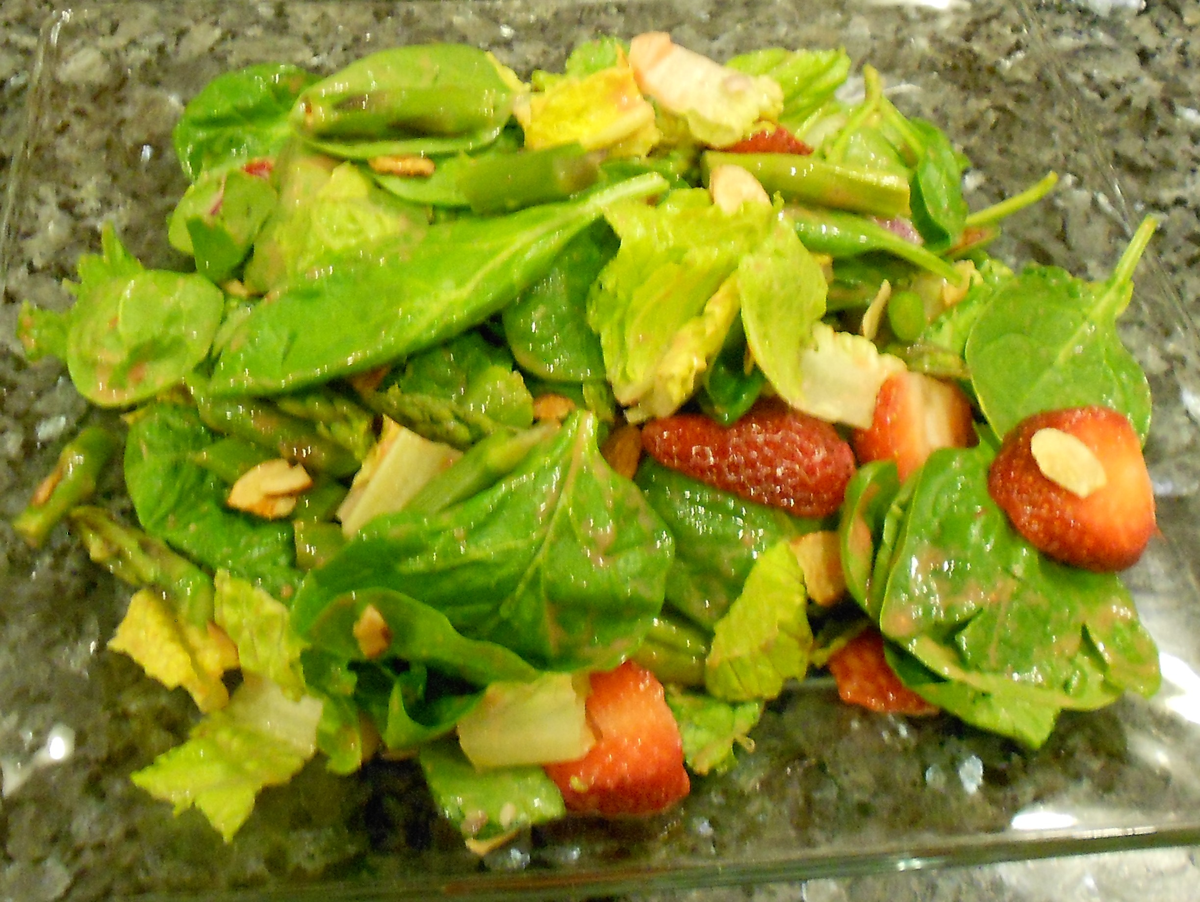 Strawberry & Asparagus Salad is very fresh tasting not only due to the ...